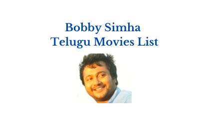 Bobby Simha Telugu Movies List