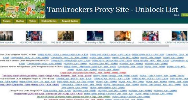 tamilrockers proxy site 2021 unblock proxy list