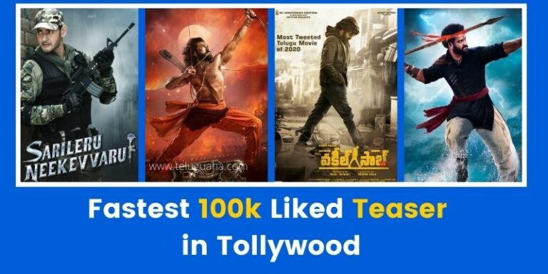 Fastest 100k Liked Teaser in Tollywood