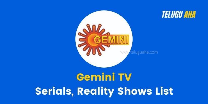 Gemini Tv Serials List