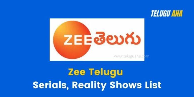 Zee Telugu Serials List